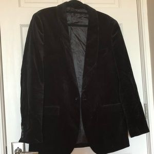 JCrew Mens Black Velvet Blazer